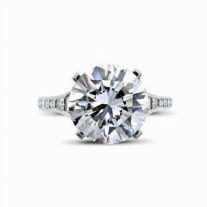 Claw Set Brilliant Cut Engagement Ring 3.57ct DVS2 GIA